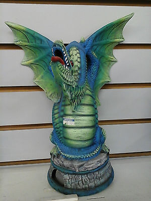 "New vintage fantasy 10"" Green Dragon candle holder / oil fragrance diffuser"