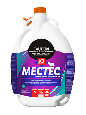 Noromectin Cattle Drench Pour-On 5 Litre (Equiv, Ivomec, Ausmectin, Ivermectin)