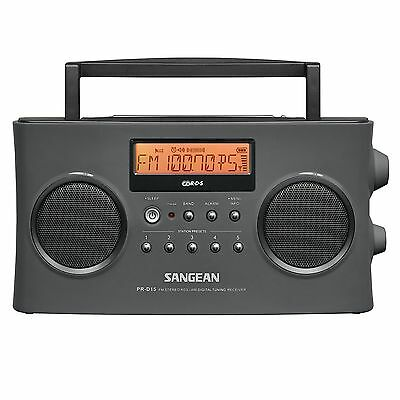 Sangean PR-D15 FM-Stereo RDS -RBDS / AM Digital Tuning Portable Radio Receiver