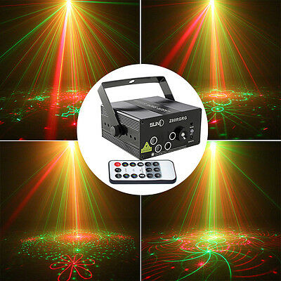 SUNY 5 Lens 80 Pattern RG Laser Stage Lighting Red Green BLUE LED Remote Control