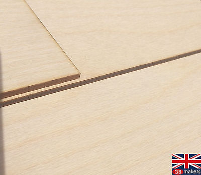 A4 Birch Plywood Sheets - Laser Safe - For Crafts, Models & Pyrography 4mm 6mm