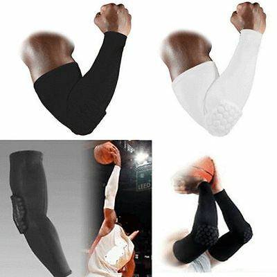 Honeycomb Crashproof Basketball Football Shooting Arm Sleeves Elbow Support Pad