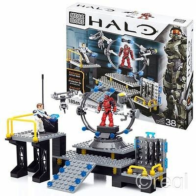 New Halo UNSC Infinity Armour Bay Playset & Figures Mega Bloks Building Official