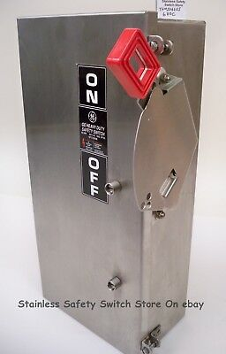GE STAINLESS THN3362SS 60a 600v 3ph Non-Fused Safety Switch 11 Available NEW