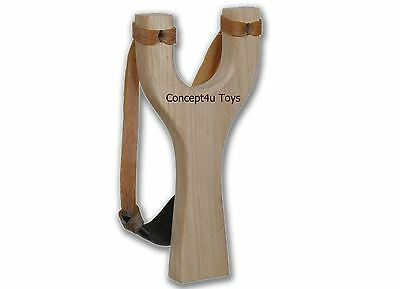 Wooden Slingshot Catapult Outdoor Hunting Adult Gift Toy Fun Handle Play Strong
