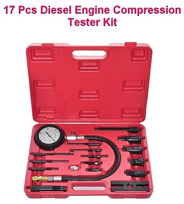 Auto Car Cylinder Pressure Meter Diesel Engine Compression Tester Testing Kit