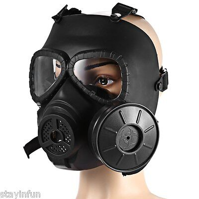 Airsoft Paintball Full Face Protection Tactical Mask w/ One Filter Tank Outdoor