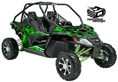 "Arctic Cat Wildcat Decal Wrap Graphic kit ""Hells Fury"""