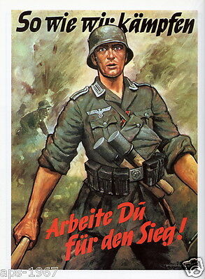 German WW2 Wehrmacht As we Fight large Poster