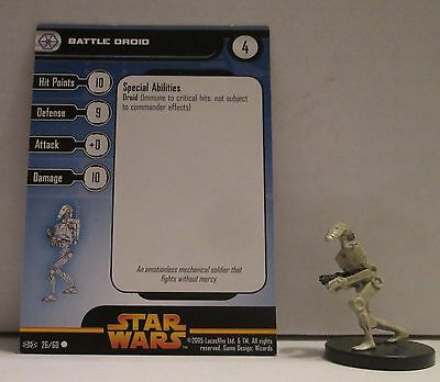 Battle Droid 26/60 Star Wars Miniatures Minis Revenge of the Sith ROTS
