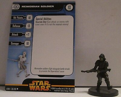 Neimoidian Soldier 36/60 Star Wars Miniatures Minis Revenge of the Sith ROTS