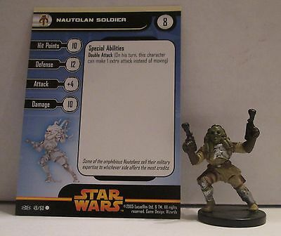 Nautolan Soldier 49/60 Star Wars Miniatures Minis Revenge of the Sith ROTS