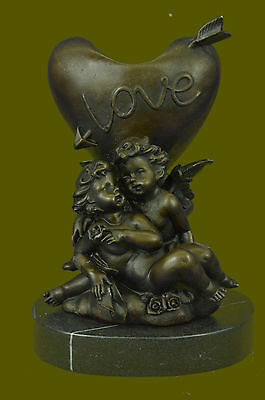 Stunning Bronze Effect Angel Candle Holder in Moreau Style Hot Cast Figurine Art