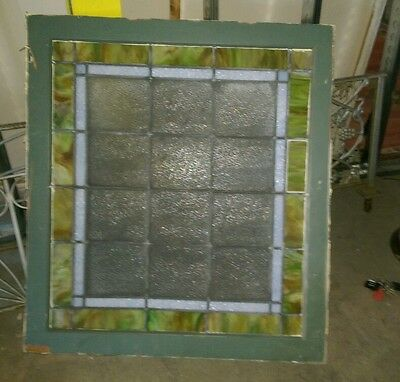 Reclaimed Antique Stained glass window from Crawford's Bakery building.