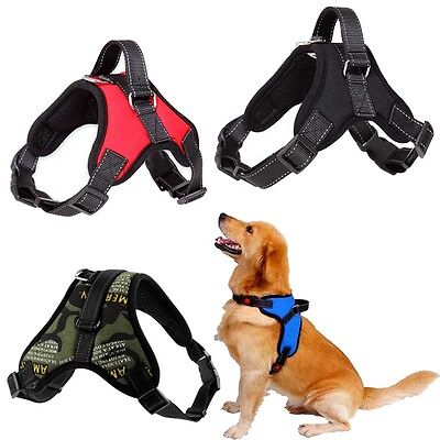 Big Dog Soft Adjustable Harness Pet Large Training Walk Out Harness Vest Collar