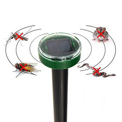 Outdoor Yard Sonic Solar Ultrasonic Snake Mouse Mice Rodent Pest Repeller Reject