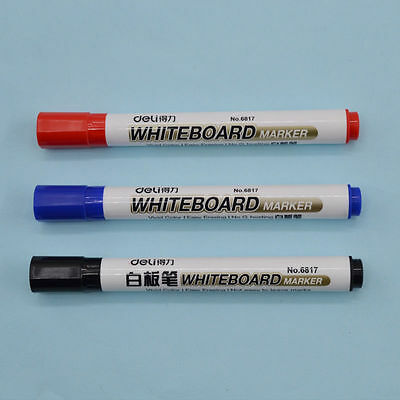 2pcs Whiteboard Pens Markers Dry Wipe Erase Easy Erasable Office School Supplies