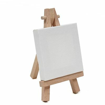 Hobbycraft Mini Adjustable Wooden Easel And Pre-Primed Canvas Set Painting