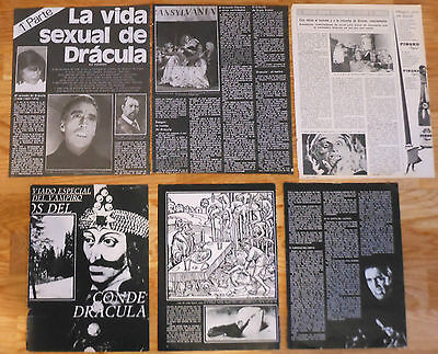 DRACULA 1970s vintage spanish articles magazine photos clippings