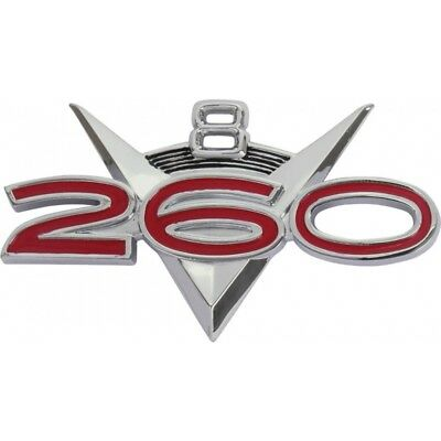 Fender Ornament - 260 V8 - Chrome With Red Numbers On Black Arcs - Falcon Except