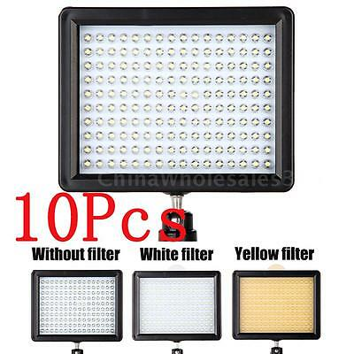 LOT 10X 160LED Video Light 1280LM Dimmable for Canon Nikon SLR Camera Camcorder