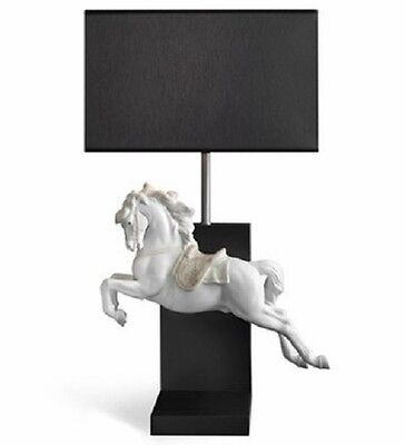 Lladró Horse On Pirouette Lamp