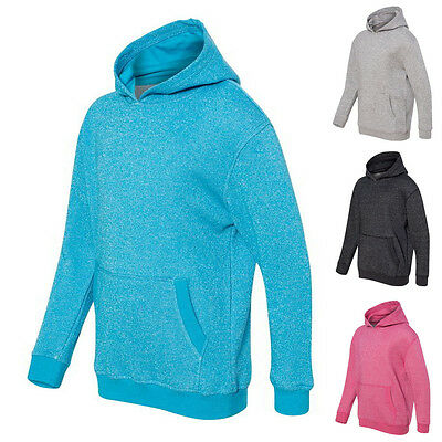 J. America Girls Hoodies Pullover Kids Youth Glitter French Terry Hoodie