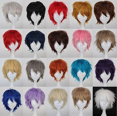 "12"" 30cm Short Straithrt wig 20 colors  Curly Cosplay Wig fashion hair"