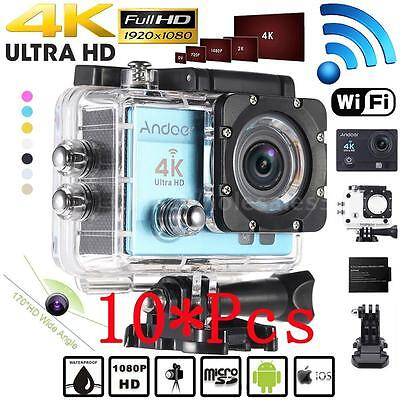 10X WiFi 4K 1080P HD 16MP Waterproof Sport DV Video Action Camera Camcorder W8C7