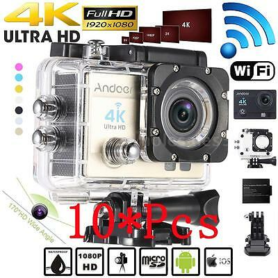 10X WiFi 4K 1080P HD 16MP Waterproof Sport DV Video Action Camera Camcorder E2B5