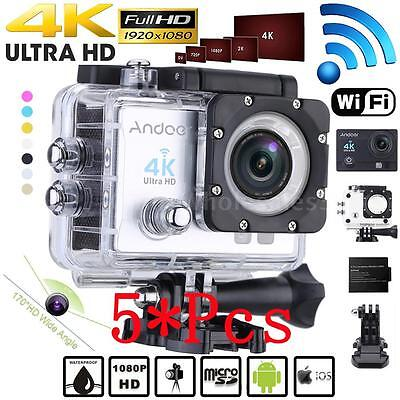 5X WiFi 4K 1080P HD 16MP Waterproof Sport DV Video Action Camera Camcorder E5P9