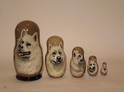 Russian Matryoshka. High quality. Hand-painted  American Eskimo