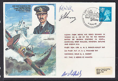 1976 British Forces  Flight Cover      Signed
