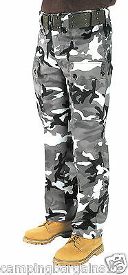 Kids Boys Cargo Army Combat Pants Trousers Size 6-14 Heavy Duty Cotton Urban Cam