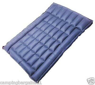 FREEPOST Rubber Air Bed Double Box Wall Cotton Inflatable Mat Mattress W pillow
