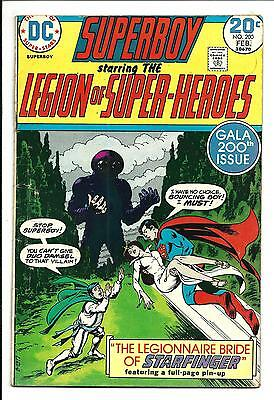 SUPERBOY # 200 (LEGION of SUPER-HEROES, FEB 1974), VG/FN