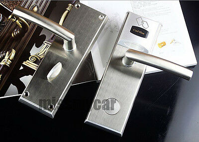 Digital RFID Card Door Lock For Hotel/Home Use With Deadbolt And Anti-card Latch