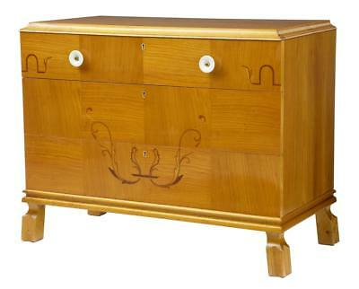 20Th Century Later Art Deco Birch Inlaid Chest Of Drawers