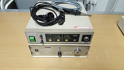 Olympus OTV S2 camera and controller,  halogen, 250light source, light cable