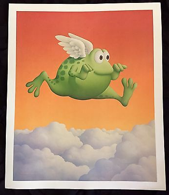"LOW FROG ALONG THE COAST Michael Bedard CARTOON Art Poster Print LARGE 20"" x 24"""