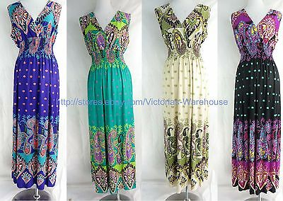 wholesale lot of 4 long dress maxi sundress beach dress Gypsy Clothing for Women