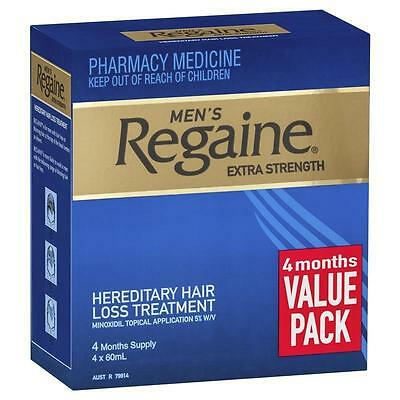 Regaine For Men Extra Strength Hair Loss Treatment - Regrowth 4 x 60ml 4 months