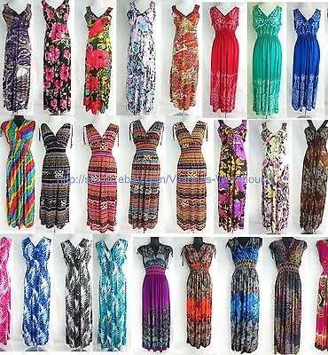 US Seller-$7 each, 50 maxi dresses Boho Chic  wholesale summer dresses