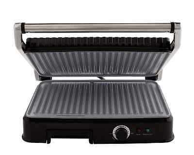 New Indoor Panini Ceramic Maker/Grill Removable DripTray Floating NonStick Hinge
