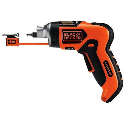 Cordless Lithium Ion Screwdriver Set Black and Decker Electric Charger Battery