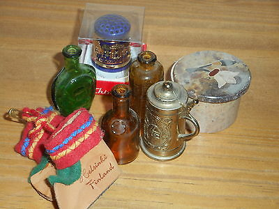 Assorted Thimble Beer Stein Glass Bottles Marble Trinket Box