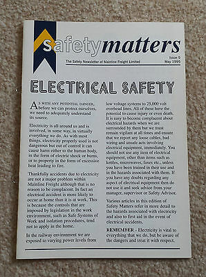 BRITISH RAIL MAINLINE FREIGHT Safety Matters Newsletter May 1995 Staff Book BR