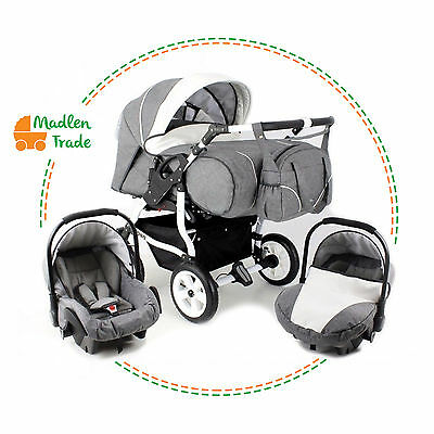 Baby Pushchair Pram Duo Stars Twin Double Travel System Optional  Car Seat