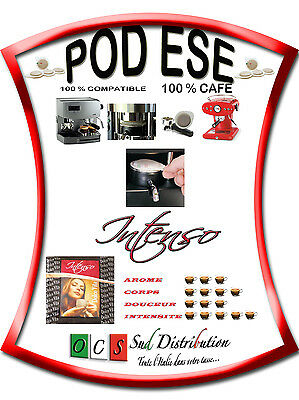 100 Dosettes compatibles ESE 44mm INTENSO