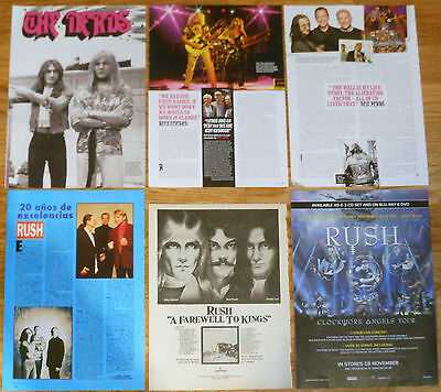 RUSH 1970s/10s clippings magazine articles photos rock